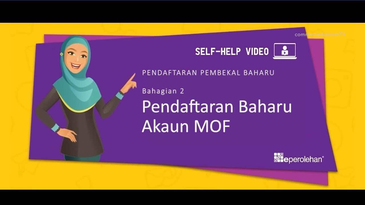 Pendaftaran MOF Secara Online